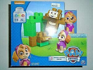 "Nickelodeon Paw Patrol Monkey Trouble Skye - 22 Piece Block Set ""NEW"""