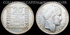 20 Francs TURIN 1937 Argent 19.96gr