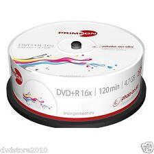 1000 PRIMEON DVD+R Stampabili 4.7GB 120 Minuti 16X Cake Box Print Inkjet 2761225