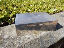 SILVER RAF CIGAR BOX  BATTLE OF BRITAIN  BRISTOL BLITZ   BARRAGE BALLOON  1941