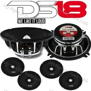 4 DS18 PRO FR5NEO 5.25″ Neodymium Midrange Speaker 400W Max 4 Ohm Neo (Set of 4)