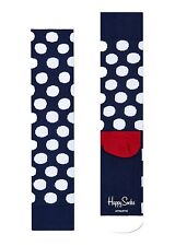 Happy Socks Size UK 7 - 11 Unisex Pair Of Cushioned Sport Spotty Athletic Socks