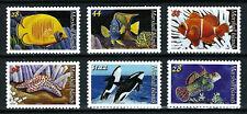 MARSHALL ISLANDS, SCOTT # 940-944 & 965, COMPLETE SET OF 6 FISH & MARINE LIFE