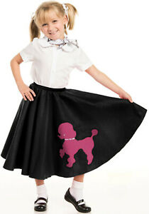 Youth Poodle Skirt Black with Musical note printed Scarf