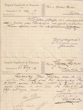 DUDERSTADT, 2 x Brief 1916, Leopold Engelhardt & Biermann