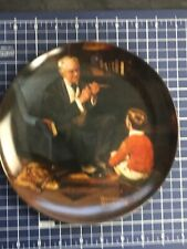 "Edwin M Knowles China Co Norman Rockwell Collector Plate ""The Tycoon"", #Aa8422"