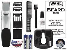 Wahl Cordless Beard Trimmer Hair Shaver Clipper Kit Groomsman Battery Razor New