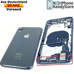 Original Mittelrahmen Für iPhone XR Backcover Antenne Flex + Vormontiert Schwarz