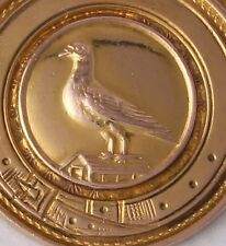 More details for 9ct gold pigeon racing medal medallion fob everton & crowther winner usher 1936