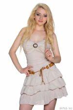 Vestiti da donna beige con fantasia nessuna fantasia con spalline
