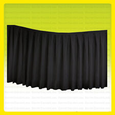 "14 ft x 29"" Table Skirt Tablecloth Wedding Party Polyester Linens, No Top, Black"