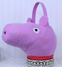Halloween Peppa Pig Jumbo Plush Basket NEW W/TAG PINK Party Favor J-63 1 & 2