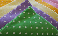 "Craft Felt Squares Polka Dot Print x10 Sheets - 12"" Square - Brights or Pastels"
