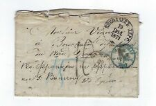 1871 Russia Stampless to Bouchain France, Strasbourg Transit, Scarce