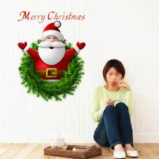 Père Noël Santa Claus Autocollant Mural Sticker Joyeux Noël Salon Maison Déco