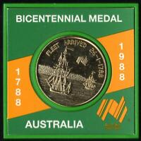 1988 AUSTRALIA BICENTENNIAL MEDAL FIRST FLEET CAPT ARTHUR PHILLIP - PERSPEX CASE