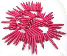 20-45mm Pink Turquoise Graduated Spike Stick drop Beads 16""