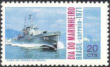 Brazil 1971 Navy Day/Gunboat/Ship/Boat/Military/Naval/Transport 1v (n25344)