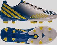 ADIDAS Predator Absolion LZ TRX FG White Blue Yel Soccer Cleats NEW Mens 6.5 7.5