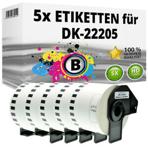 5x Etiketten kompatibel Brother P-Touch QL-1050N 1060N 500A 550 570 650TD 700