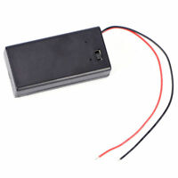 For 9V Volt Battery Holder Box Case DC with Wire Lead ON/OFF Switch Cover Black