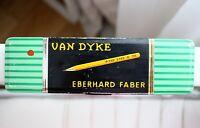 Rare Vintage Van Dyke Eberhard Faber Empty Pencils Metal Box Germany