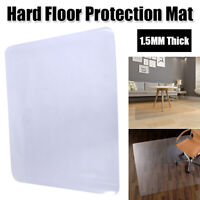 Large Clear Desk Chair Mat Protector PVC Hard Wood Floor Home Computer Office US