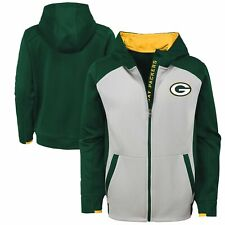 Green Bay Packers Youth  XL NFLHi-Tech Performance Full-Zip Hooded Sweatshirt