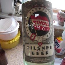 Detroit, Mich.Tivoli crown top beer bottle w/ ORIGINAL PAPER LABEL Michigan MI