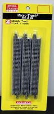 Z Scale - MICRO-TRAINS MTL 990 40 902 Straight Track Pack - 110mm x 12 Pieces