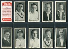 """D C THOMSON 1957 """"COUNTY CRICKETERS"""" (Rover) TRADE CARDS - PICK YOUR CARD"""