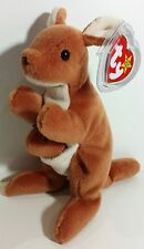 "TY Beanie Babies ""POUCH"" the KANGAROO - MWMTs! RETIRED! PERFECT GIFT! MUST HAVE!"