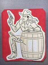 Original art, Western Coloring Book Art, 1950's