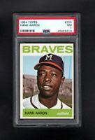 1964 TOPPS #300 HANK AARON HOF MILWAUKEE BRAVES PSA 7 NM SHARP CARD!
