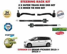 FOR CITROEN C4 GRAND PICASSO 2013-> INNER + OUTER 4 STEERING TRACK RACK ROD TIE