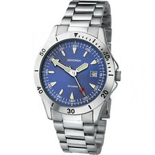 Sekonda Gents Blue Dial Stainless Steel Bracelet Watch 3279