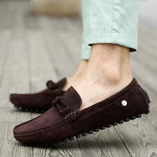 Mens Suede Boat Shoes Slip On Moccasin-Gommino Driving Slip Resistant Loafers SZ