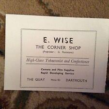 75-5 ephemera advert 1963 ilfracombe e wise tobacconist