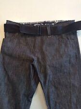 Yohji Yamamoto FEMME Women's  Jeans with Belt Size 2 Dark Denim Rockabilly