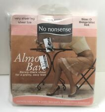 New listing Almost Bare No nonsense Lace Panty Beige Mist Sheer Toe Vey Sheer Leg Size D