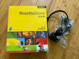Genuine Rosetta Stone Japanese Version 2 Level 1 Windows & Mac + Headset/Mic