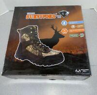 Herman Survivors 8 inch Men's Realtree Camo Waterproof Hunting Boots, 12 WIDE