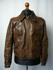 Men's Rare 1930's Vintage Horsehide Leather Luftwaffe Sports Jacket 40R (S)