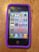 APPLE  IPhone 4/4S Soft Gel Purple  Case New In Package