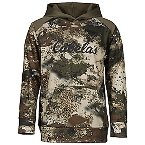 Cabela's Men's Ultra Quiet O2 OCTANE Camo Layering Silent Hunting Hoodie