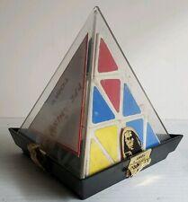 Vintage Tomy Pyraminx Pyramid Triangle Puzzle w/Original Case & Instructions