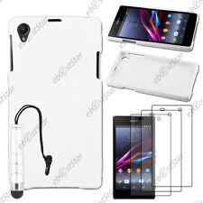 Coque SiliconeS-line Blanc Sony Xperia Z1 L39H+Mini Stylet+3 Film écran