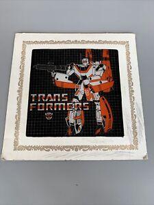 VINTAGE 1980s TRANSFORMERS G1 Jetfire CARNIVAL MIRROR GLASS PICTURE PRIZE 6x6