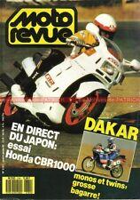 MOTO REVUE 2781 HONDA CBR 1000 MORINI Excalibur HUSQVARNA 125 WRK PARIS DAKAR