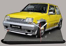 RENAULT 5 GT TURBO, R5GT TURBO,  Reloj en modela miniatura, -03